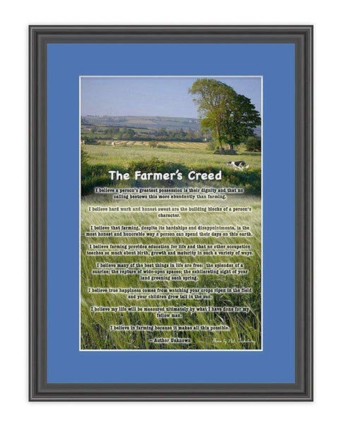 The Farmers Creed Gift Frame-qfc.ie