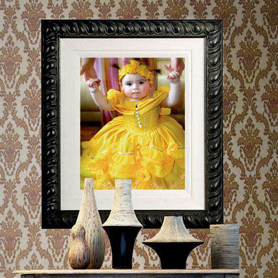 Baroque Frame on a Young Girl from Killarney - The Quality Framing Company & Imaging Services