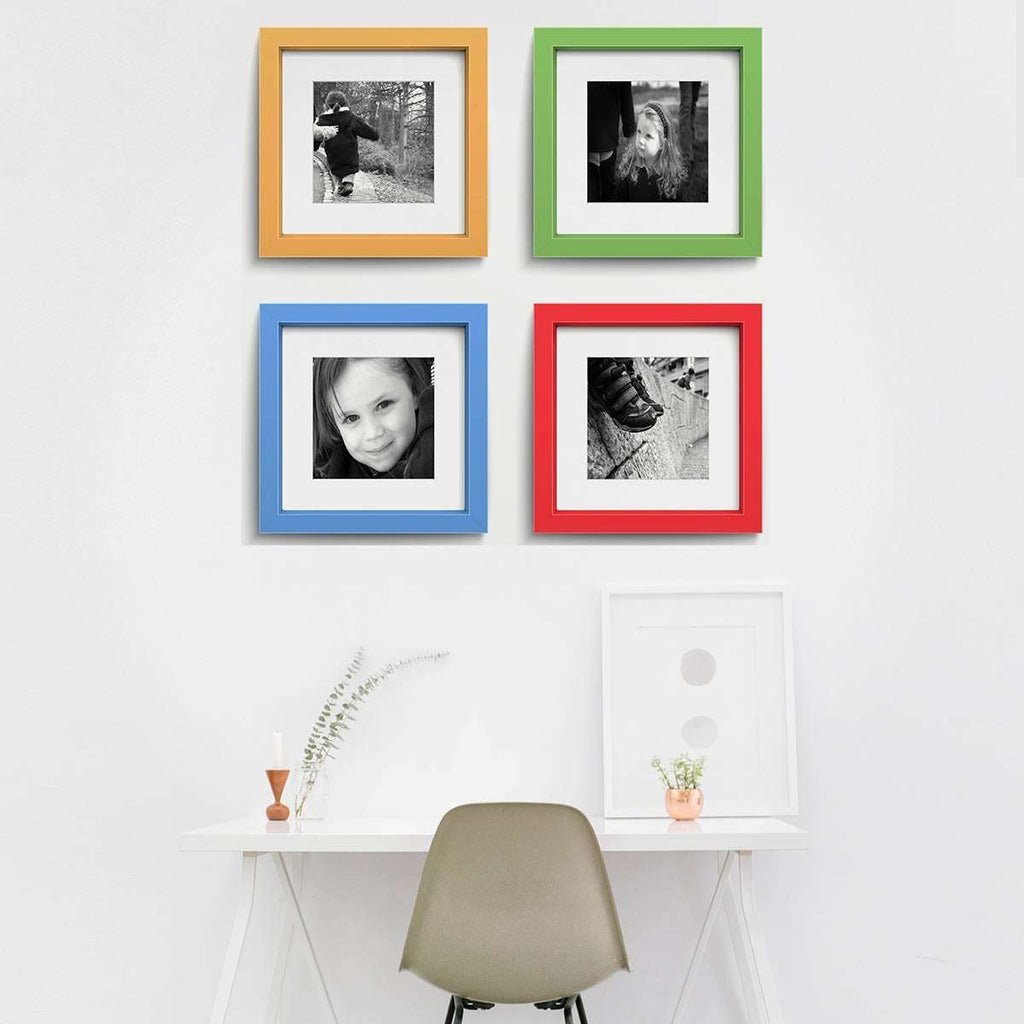 Bennetu Colours Quartet 12x12 inch frames to fit 8x8 inch photos
