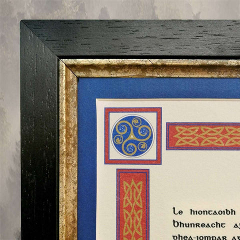 An Academic Cert with Matching Mount & Frame