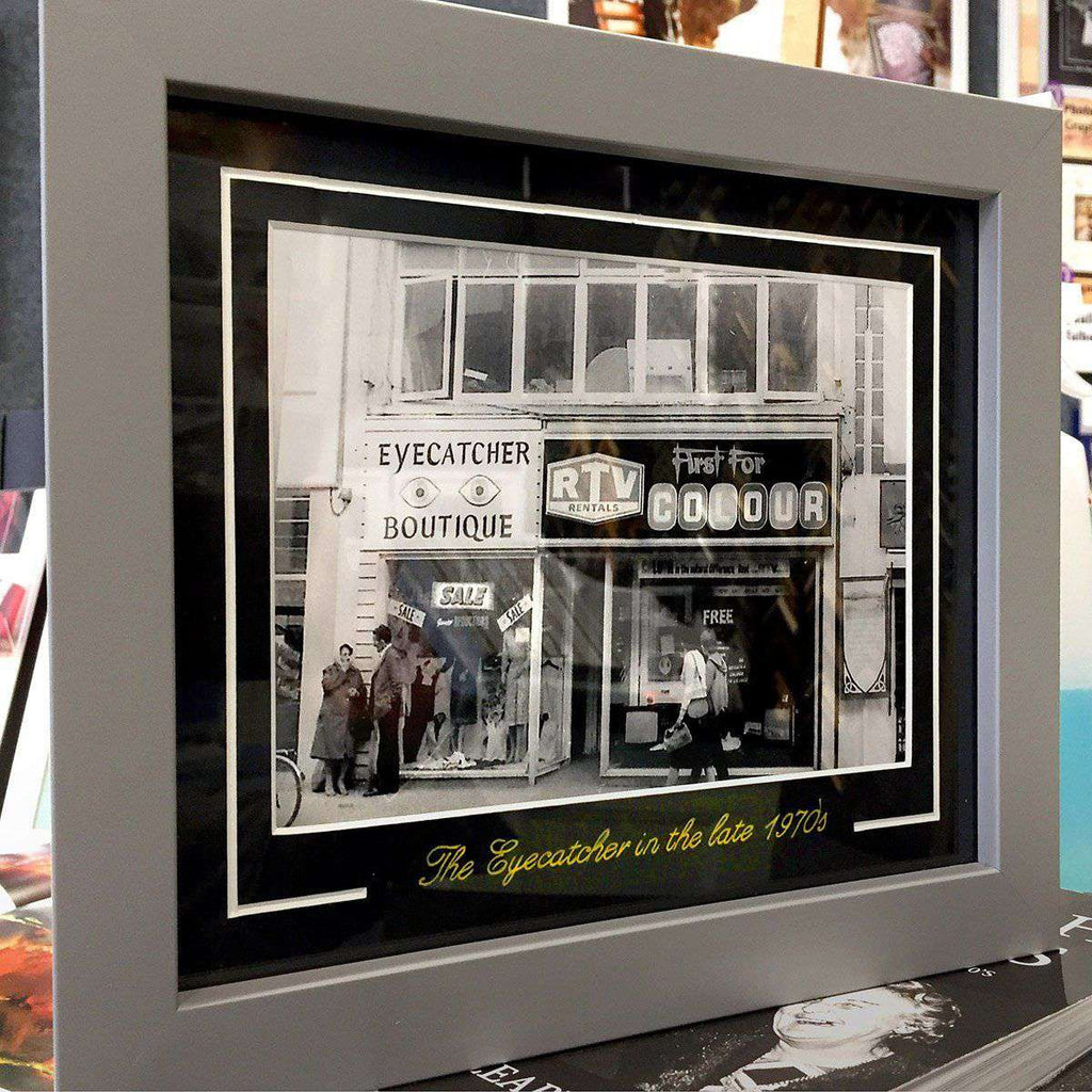 Old B&W framed with gold scrpt on mount - The Quality Framing Company & Imaging Services