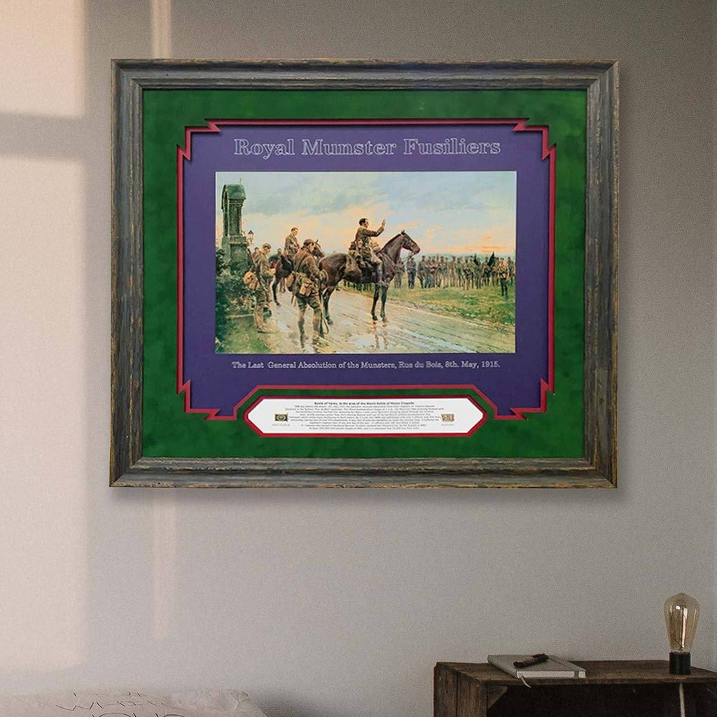 Munster Fusiliers Last Absolution Gift Frame | - The Quality Framing Company & Imaging Services