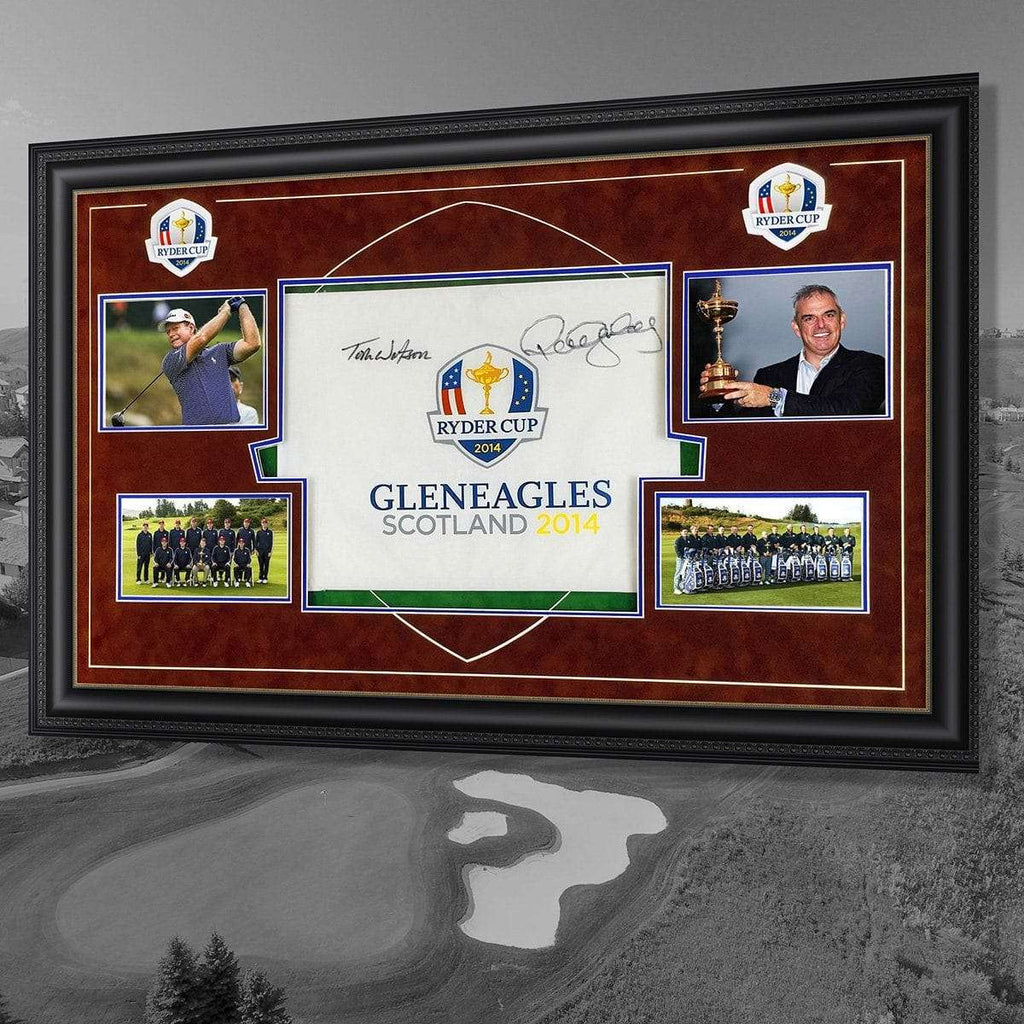 The 2014 Ryder Cup Flags Signed by captains Watson & McGinley - The Quality Framing Company & Imaging Services