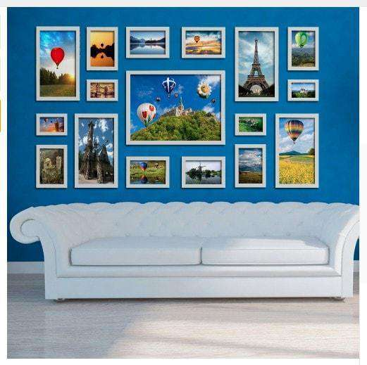 Modern Gallery Wall- 17 Photo Frames Set - The Quality Framing Company & Imaging Services
