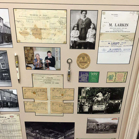 Larkins of Milltown & the memorabilia of its business past.