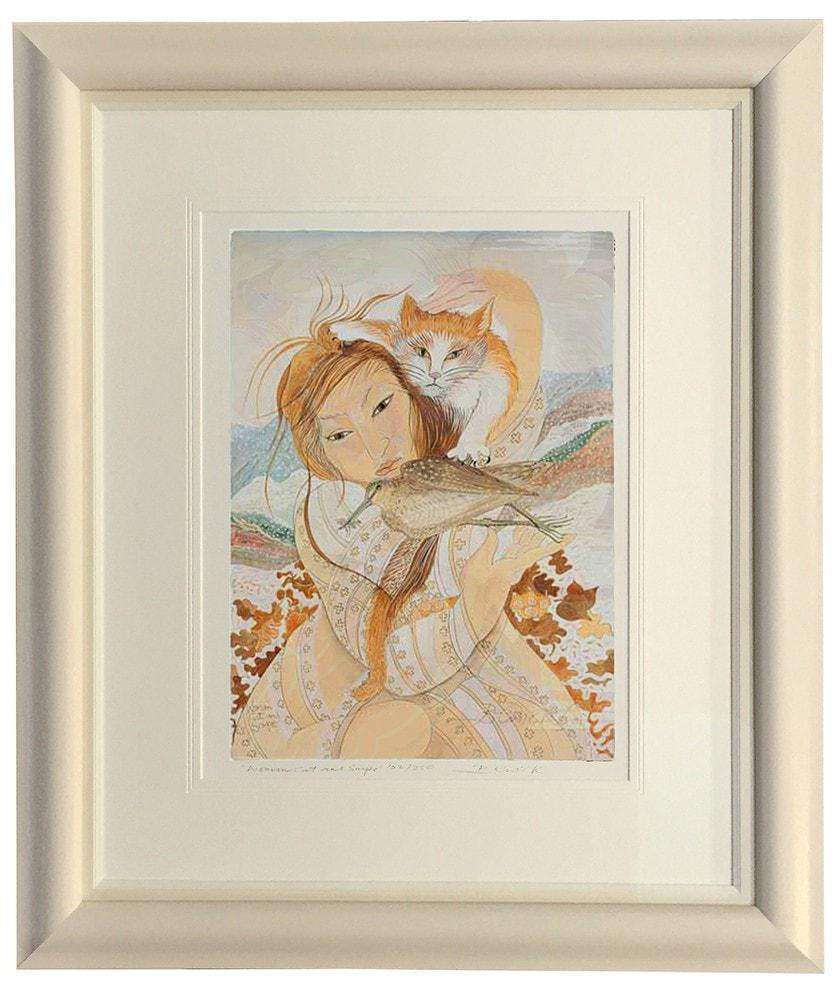 Woman & Snipe by Pauline Bewick - The Quality Framing Company & Imaging Services