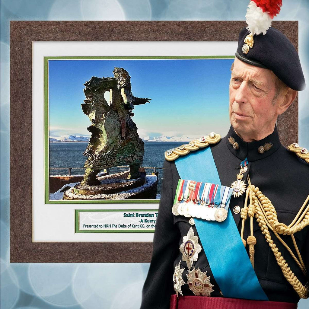Framed Print of The Navigator presented to the Duke of Kent by the RLNI