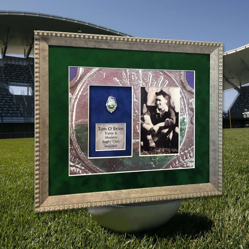 Old Rugby Medal with Custom Mount - The Quality Framing Company & Imaging Services
