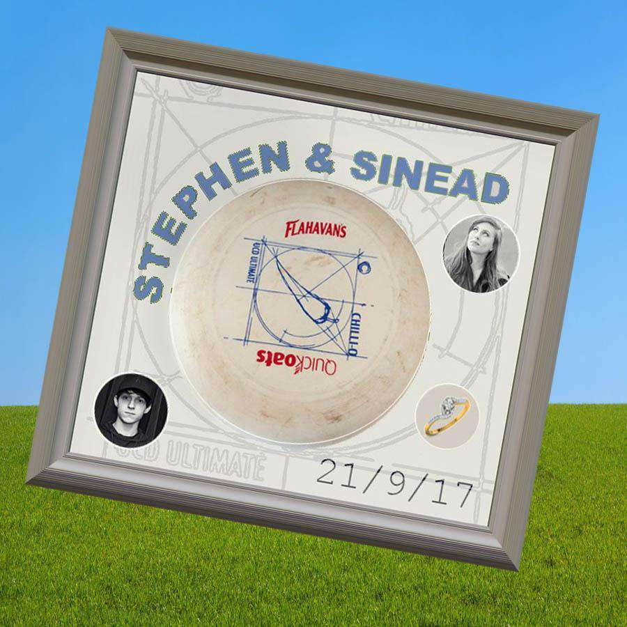 Wedding Gift for Couple who meet Playing Frisbee - The Quality Framing Company & Imaging Services
