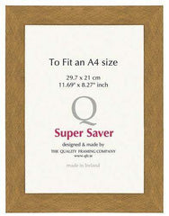 Gold Brushed 40mm Picture Frame I 6 Pack-qfc.ie