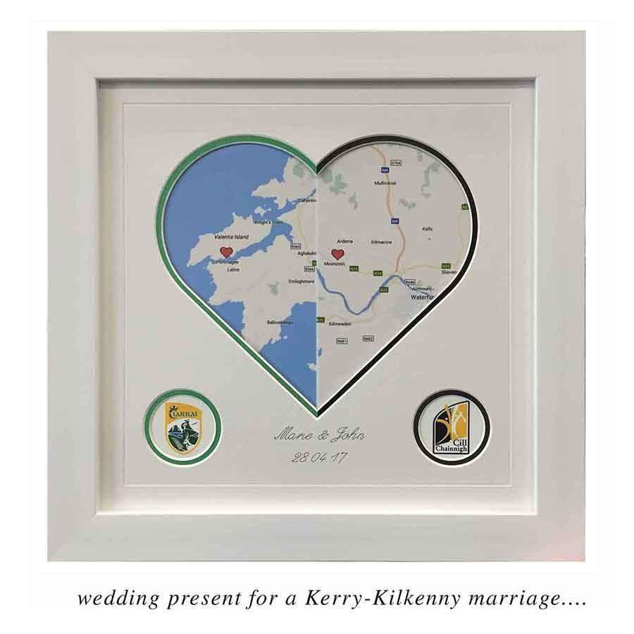 Wedding Gift- the Geography of the Heart - The Quality Framing Company & Imaging Services