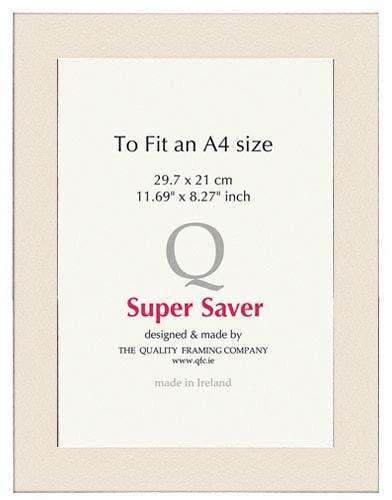 Ivory Matt 40mm Picture Frame I 6 Pack-qfc.ie