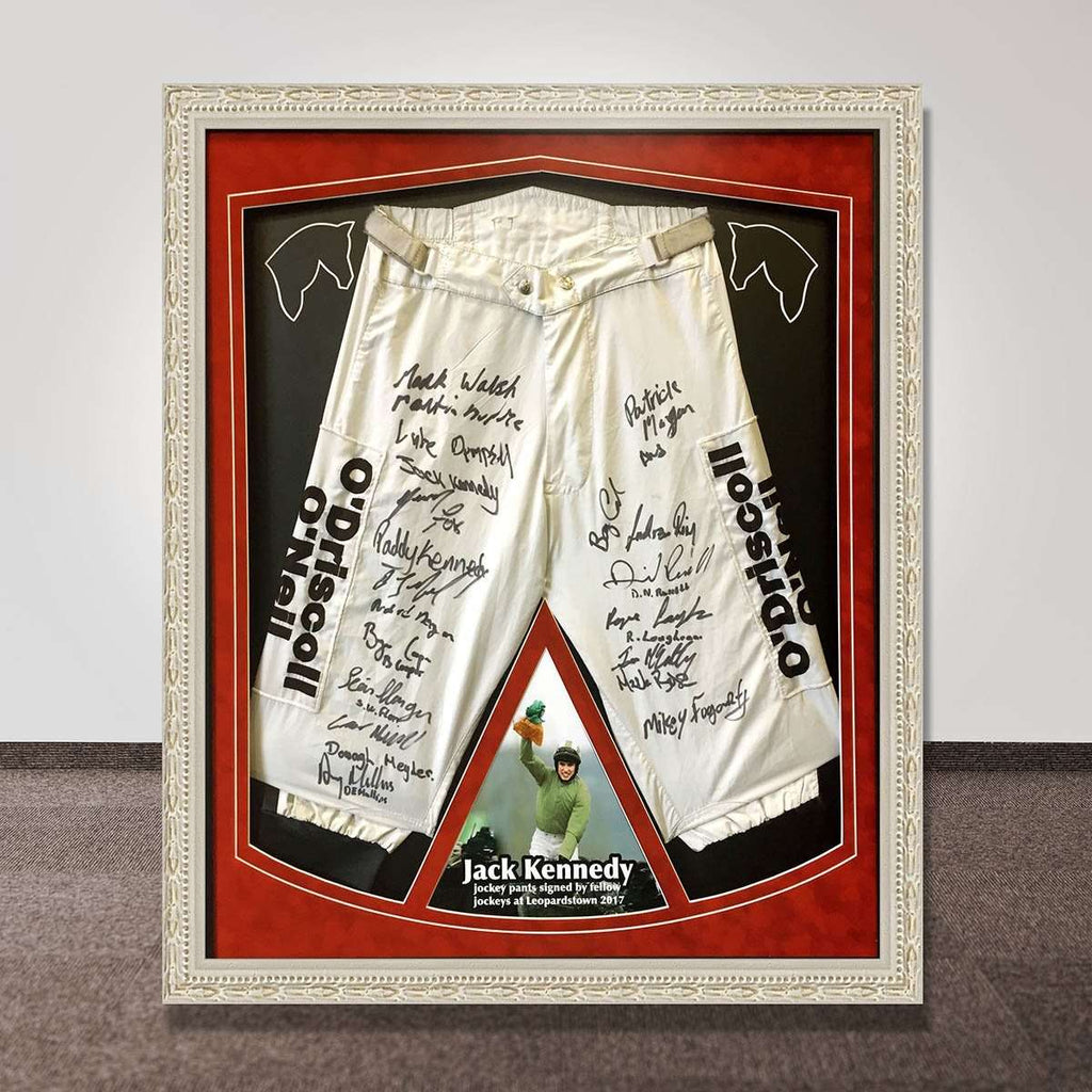 Jack Kennedy's Signed Jodphurs  Auctioned for Charity - The Quality Framing Company & Imaging Services