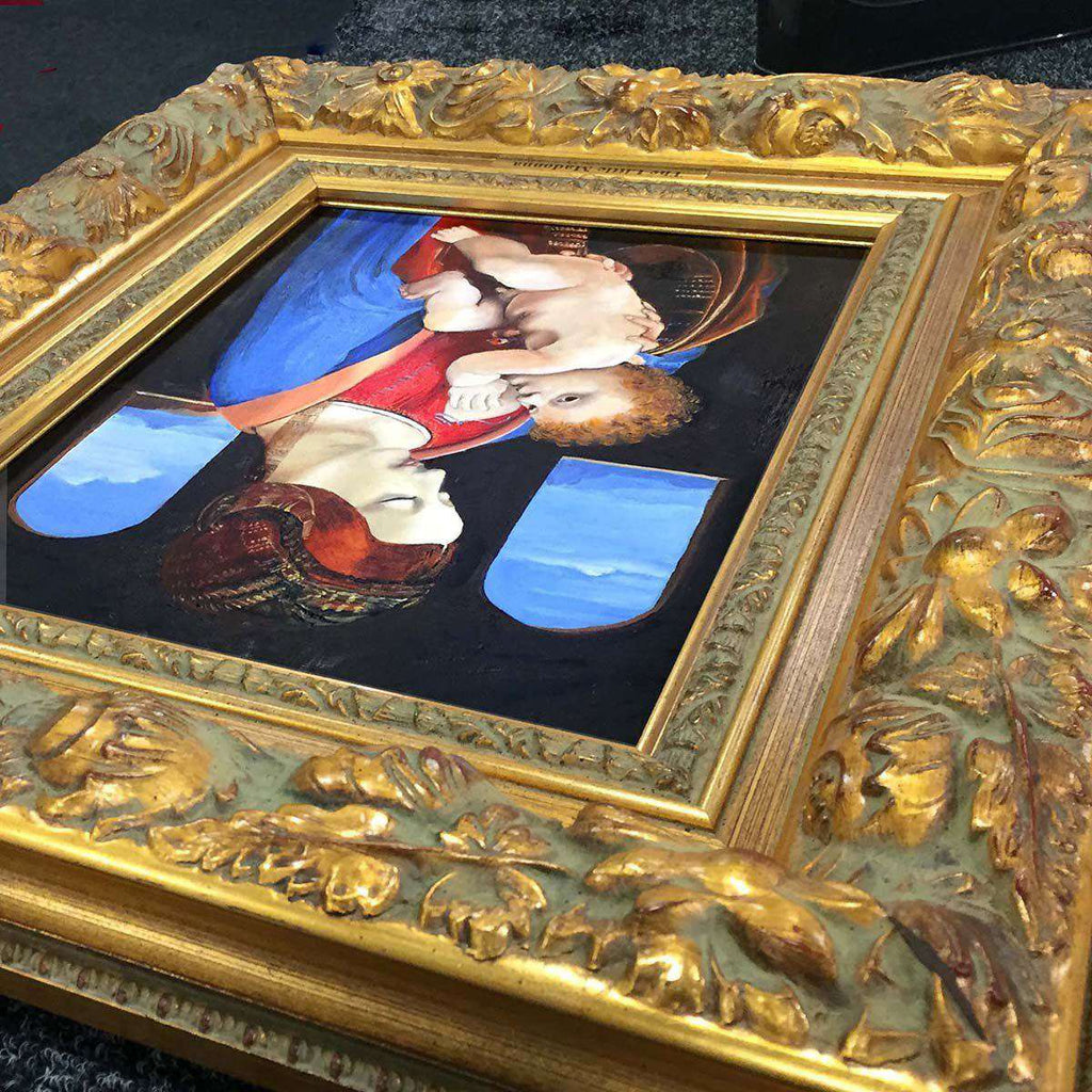 A Painting of Da Vinci's The Litta Madonna as seen in the Hermitage by Elizabeth Jansen