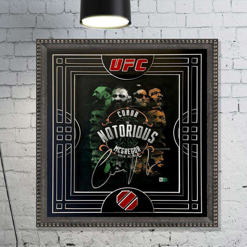 Conor McGregor Signed Ltd Ed Print ( with Mount cut out as Fight Ring) - The Quality Framing Company & Imaging Services