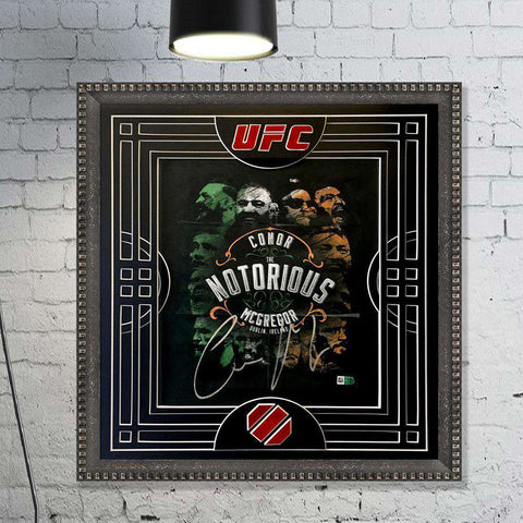 Conor McGregor Signed Ltd Ed Print ( with Mount cut out as Fight Ring)