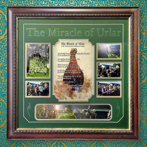A designed Poem, Mount & Frame for The Miracle of Urlar in Scotland (for a client)