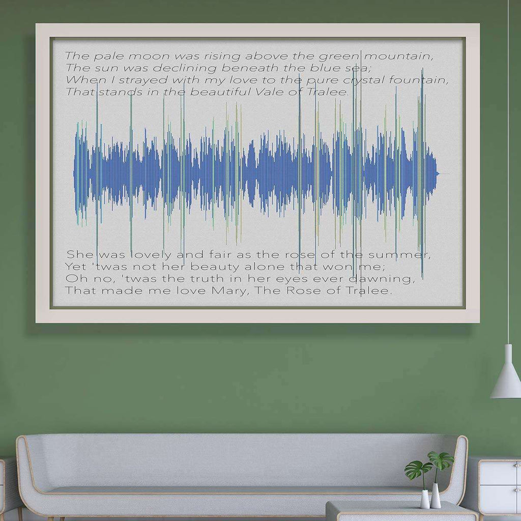 The Rose of Tralee Soundwave- custom made Soundwave Art for your interior - The Quality Framing Company & Imaging Services