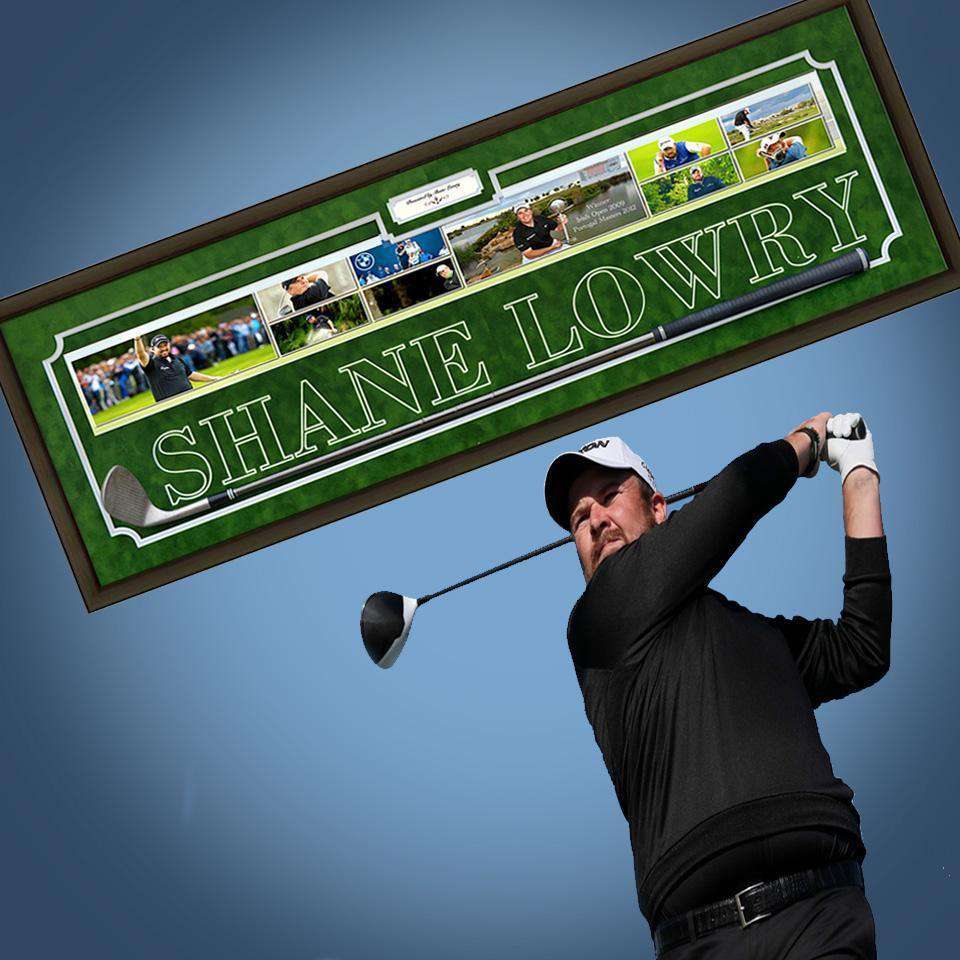 Shane Lowry Golf Club & Photo Collage - The Quality Framing Company & Imaging Services