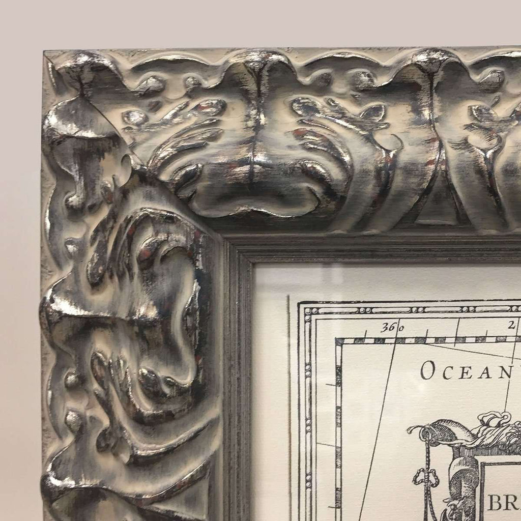 An Italian Frame & Italian Craftmanship for an Old Map - The Quality Framing Company & Imaging Services