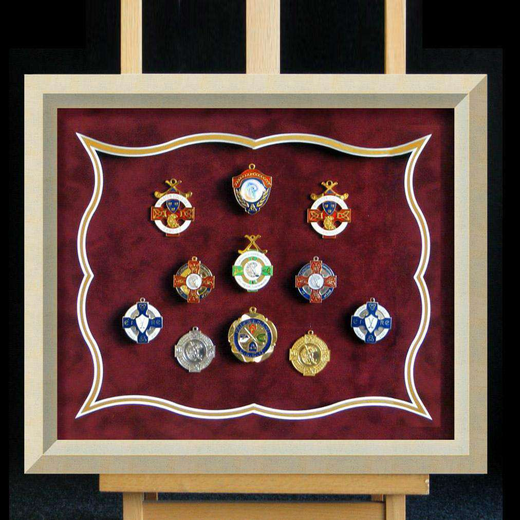 Assorted Medals Suedette Mounted - The Quality Framing Company & Imaging Services