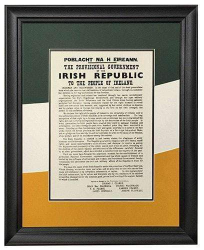 The 1916 Proclamation- Irish & English Language Versions - The Quality Framing Company & Imaging Services