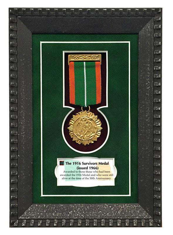 1916 Survivors Medal Gift Frame | - The Quality Framing Company & Imaging Services
