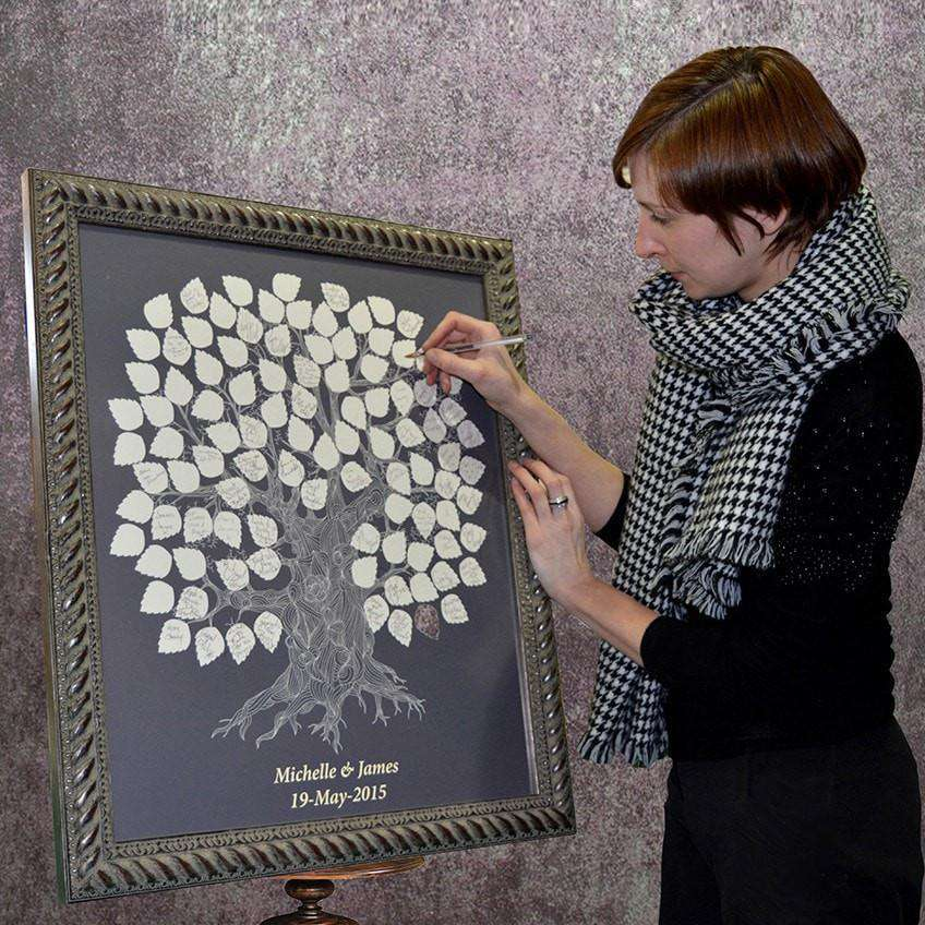 Our Wedding Signing/Fingerprint Tree - The Quality Framing Company & Imaging Services