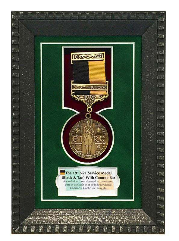 1917-21 Service Medal (With Comrac Bar) Gift Frame-qfc.ie