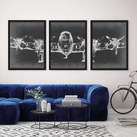 Modern Frame Decor 3 set Frame Collection (prints optional)