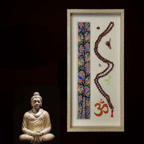 Buddhist Prayer Beads and Bodhi Print