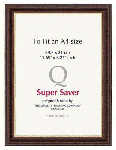 Walnut Gold 35mm Picture Frame I 6 Pack-qfc.ie