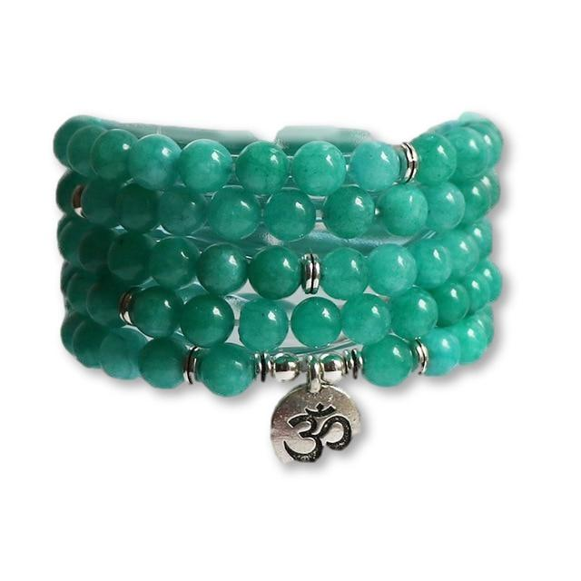 Lake Green Mala Stone Yoga Bracelet