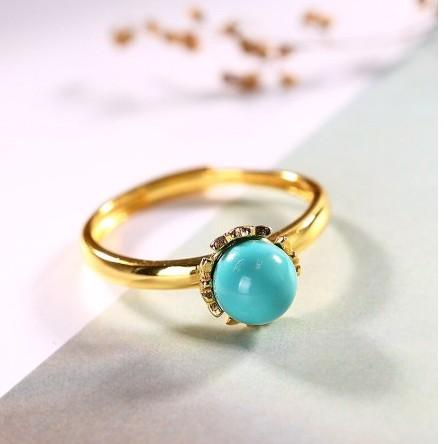 Mosaic Turquoise Adjustable Statement Ring