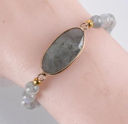 Natural Beaded Labradorite Bracelet - Rutuli