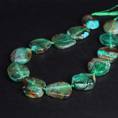Natural Raw Green Agate Slab Necklace - Rutuli