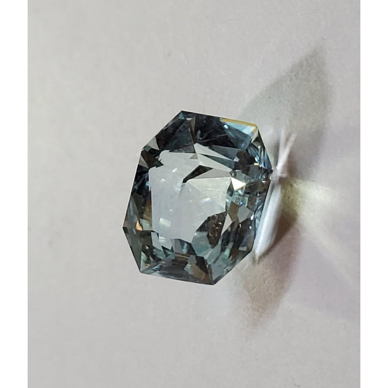 STUNNING Natural Faceted 6.25 CT Octagon Aquamarine - Not Heat Treated GIA Certified