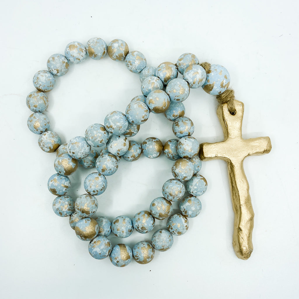 Long Blessing Beads® Cross