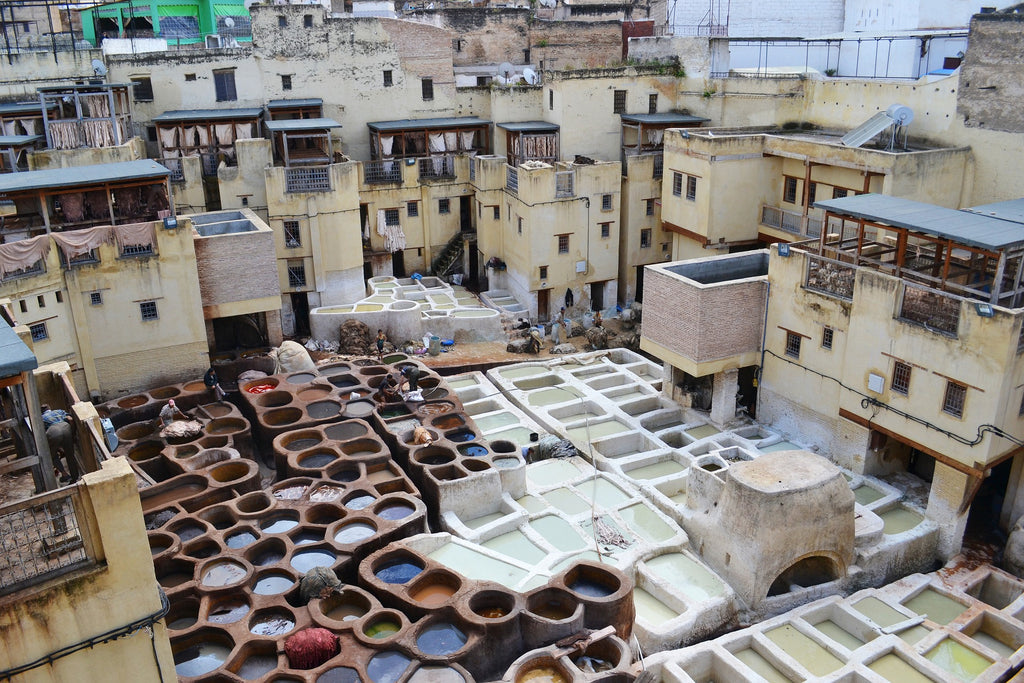 Leather Tannery In Fez, Morrocco