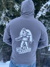Load image into Gallery viewer, Men's Charcoal Wolf Hugger Hoodie