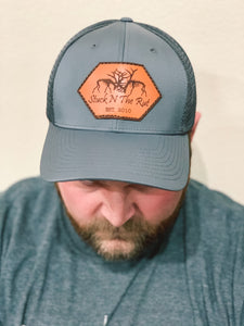 Performance Trucker Hat With Leather Accent