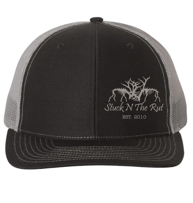 Black & Grey Embroidered Trucker Hat
