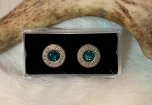 Birthstone Bullet Stud Earrings