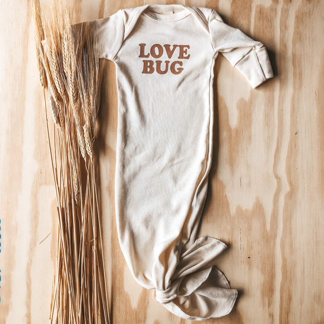 Love Bug Knotted Gown - Clay