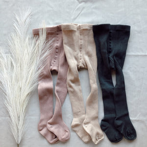 Ribbed Tights - Oat