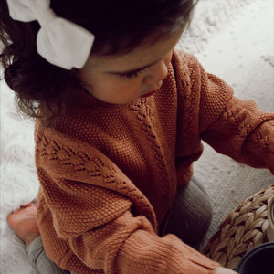 Oversized Knit Sweater -Rose