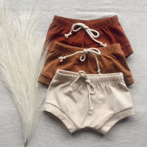 Cotton shorts - Brick