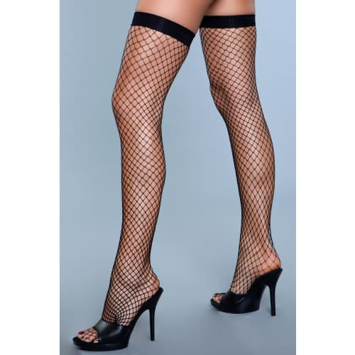 1921 Catch Me If You Can Thigh Highs Black - Black / Female / O/S - Hosiery