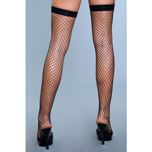1921 Catch Me If You Can Thigh Highs Black - Hosiery