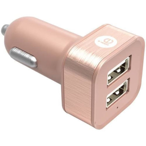 2.4-Amp Dual USB Car Charger (Rose Gold)